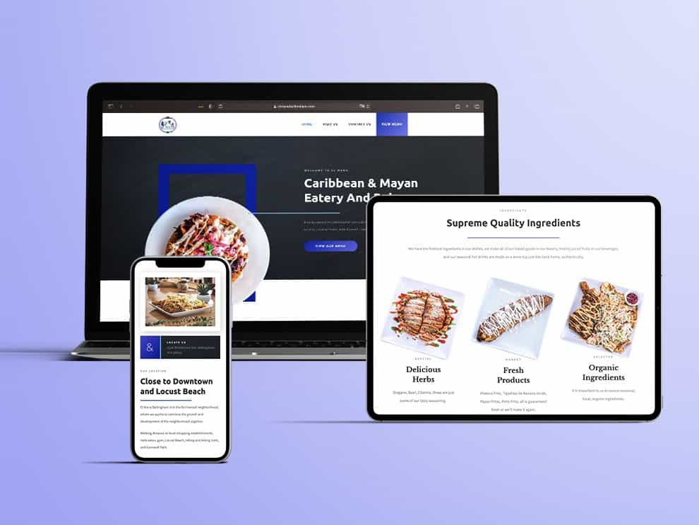 El Mana website, tablet and mobile showcase
