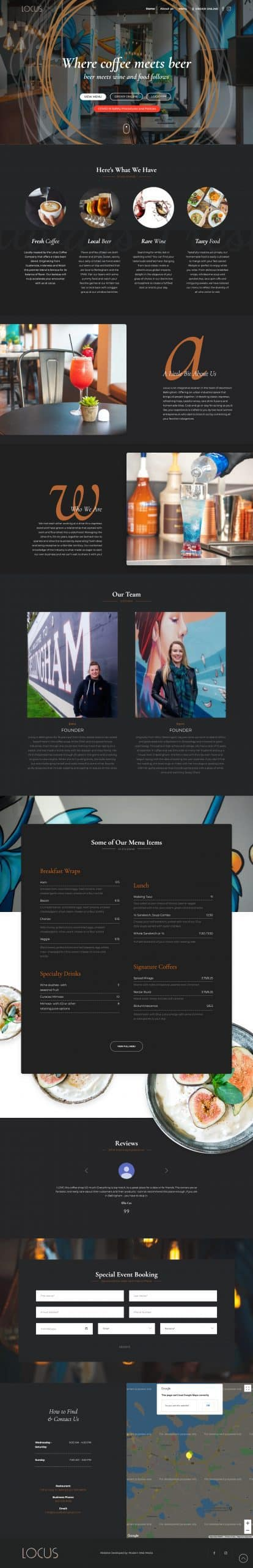 Locus Full Website Screenshot