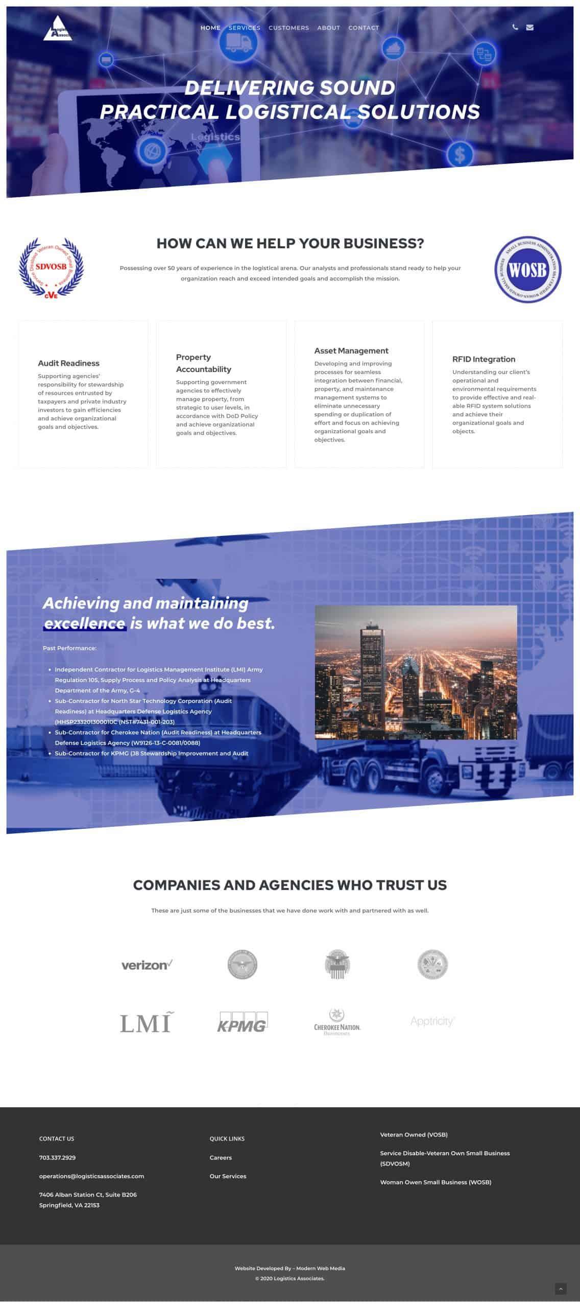 Logistics Associates Full Website Screenshot